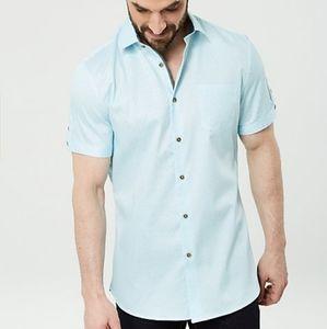 Le Chateau Geo Print Cotton Sateen Shirt XL